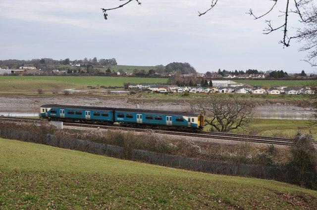 Chepstow : Railway Track & Train