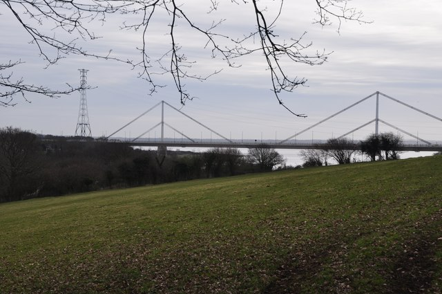 Chepstow : Grassy Field & Wye Bridge