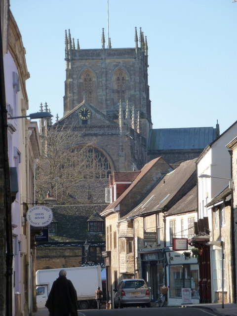 Sherborne: Long Street heads for the heart of town