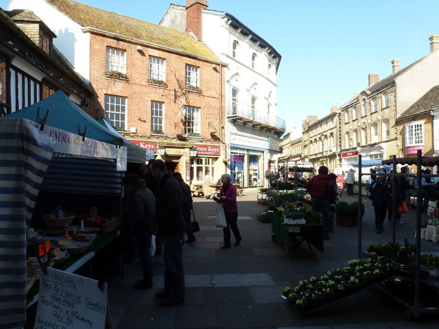 Sherborne: Saturday market in the marketplace
