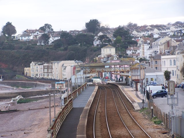 Dawlish station from the north east