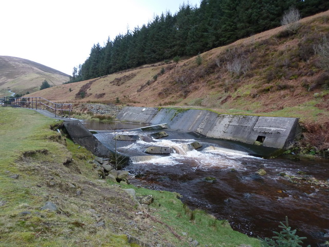 Weir on the River Dunsop at Foot Holme