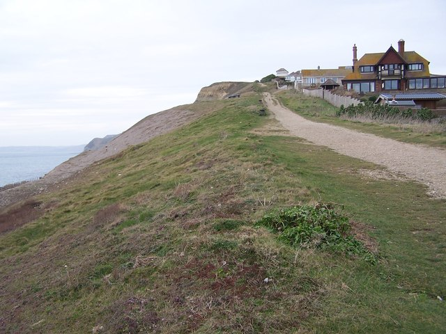 Path ascending West Cliff from West Bay