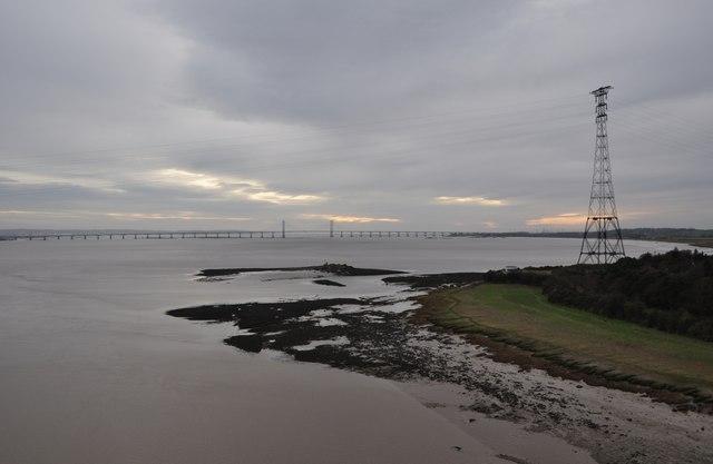 Severn Bridge : River Severn & Beachley
