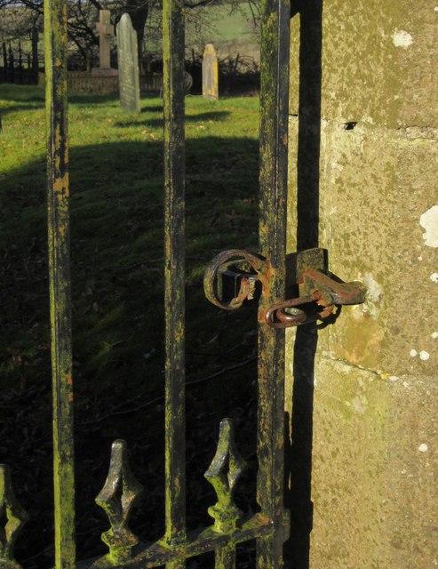 Gate latch, Virginstow churchyard