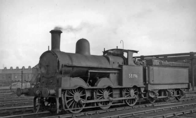 "Ex-LNW '18"" Goods 2F 0-6-0 at Workington Locomotive Depot"