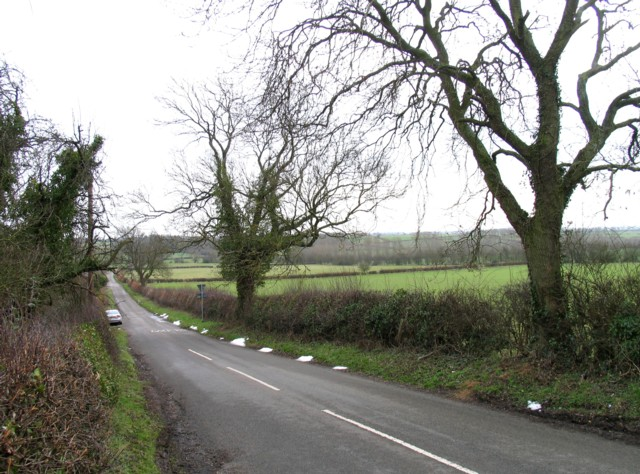 Gaddesby Lane from near to A607 junction