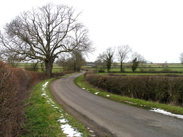 Gaddesby Lane towards Rotherby