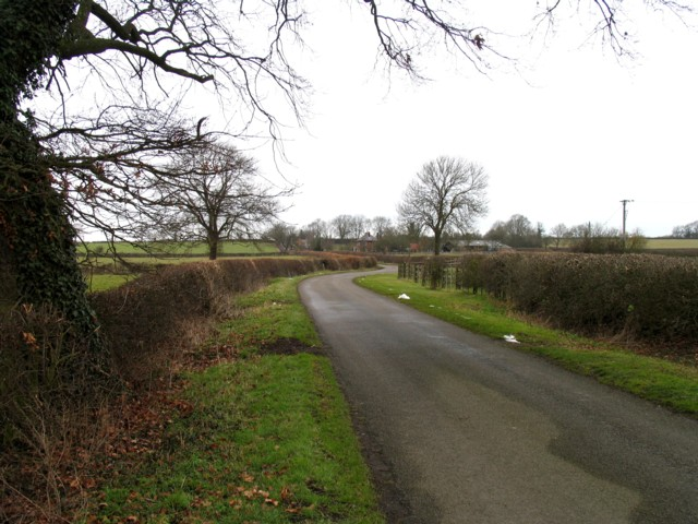 Gaddesby Lane near Rotherby Lodge entrance