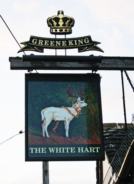The White Hart (2) - sign, 31 Newland Street, Eynsham