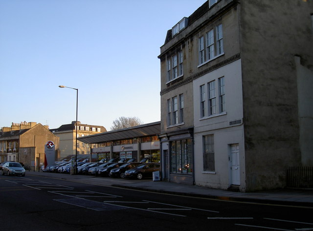 Albion Place and a Vauxhall garage
