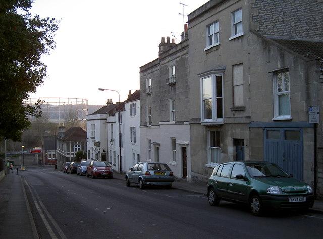 Looking down Park Lane