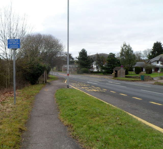 Cyclists dismount, Penhow