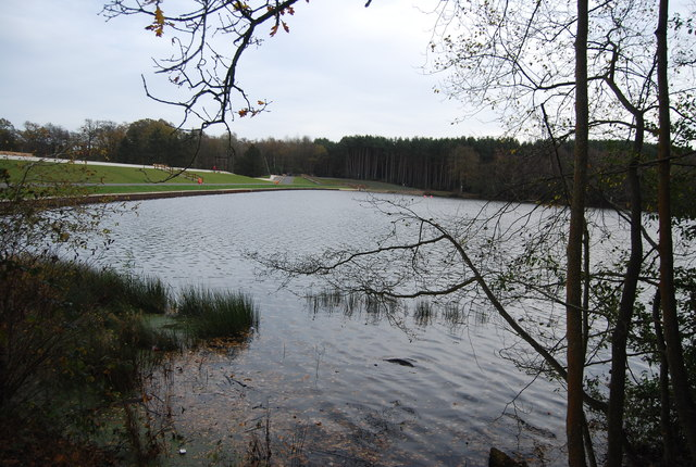 Tilgate Lake and dam