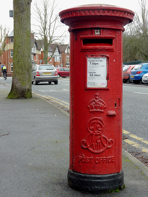 Edward VII post box by West Park, Wolverhampton