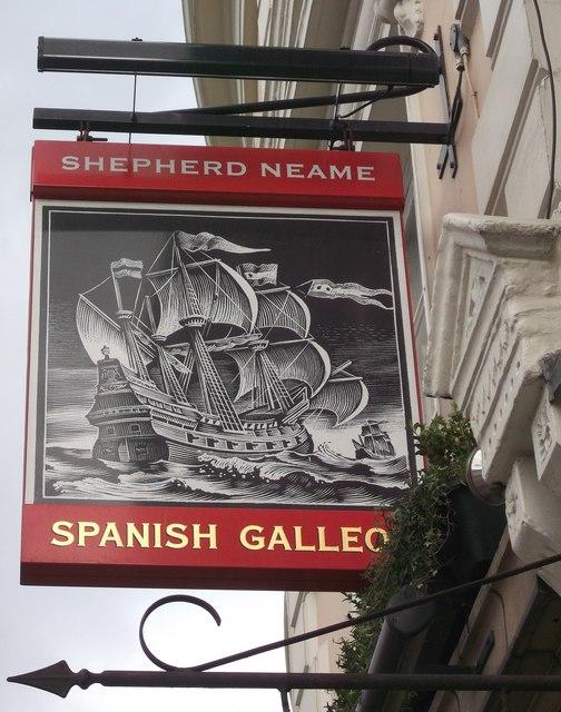 Spanish Galleon Pub Sign, Greenwich