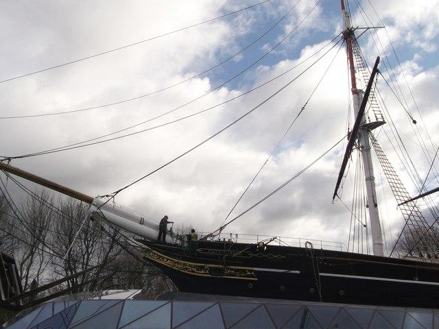 The Cutty Sark under re-development  (2)