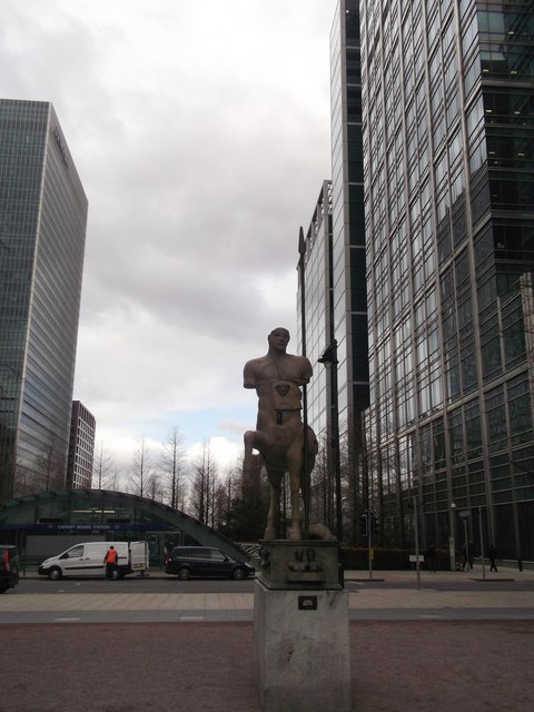 Centauro Bronze Statue, Canary Wharf, Isle of Dogs