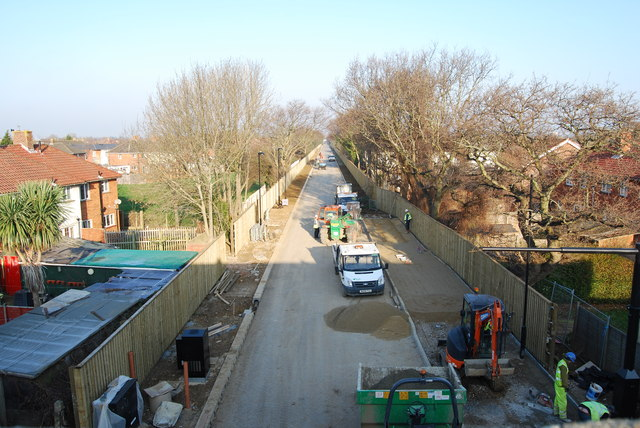 Fareham to Gosport BRT - View from Gregson Avenue Bridge (43)