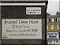 TQ3082 : Signs for The Jesmond Dene Hotel, Argyle Street / St. Chad's Street, WC1 by Mike Quinn