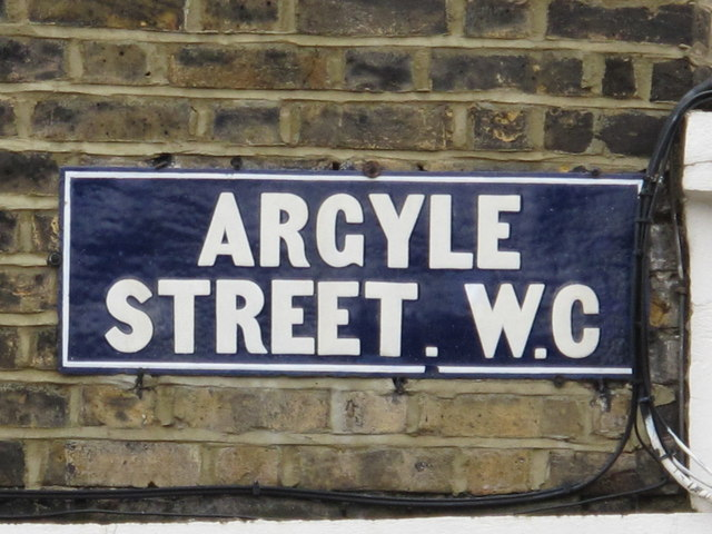 Sign for Argyle Street, WC1