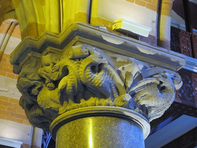 St. Pancras Renaissance London Hotel, Euston Road, NW1 - ornate capital with scary dragons