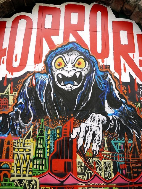 Horror Graffiti Wall On Maiden S Walk 169 Andrew Curtis