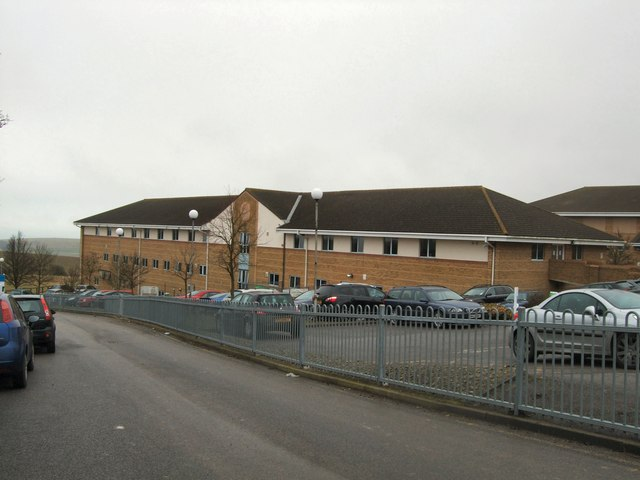 Side view of Nuffield Hospital