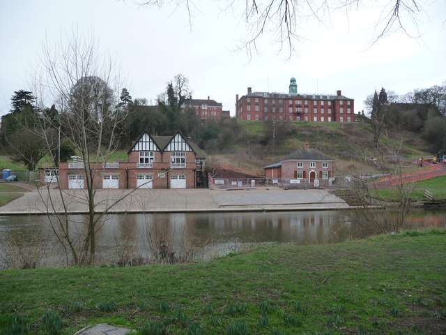 Shrewsbury School Boathouse from Quarry Park