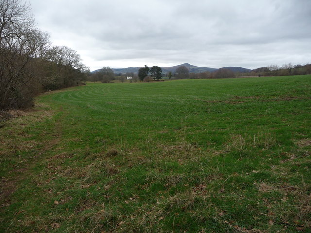 On the Usk Valley Walk south of Abergavenny