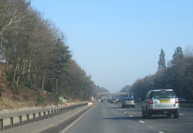 M3 passing south of Camberley