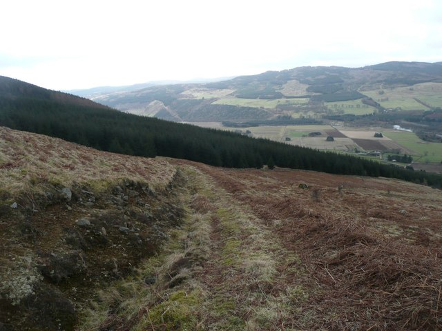 Track zig-zagging downhill