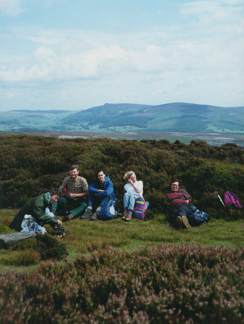 Taking a break on Barden Moor