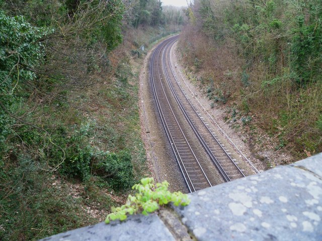 Railway view from the bridge in Cross Lanes (2)