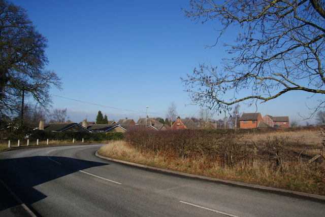 The edge of Stafford on Old Croft Road