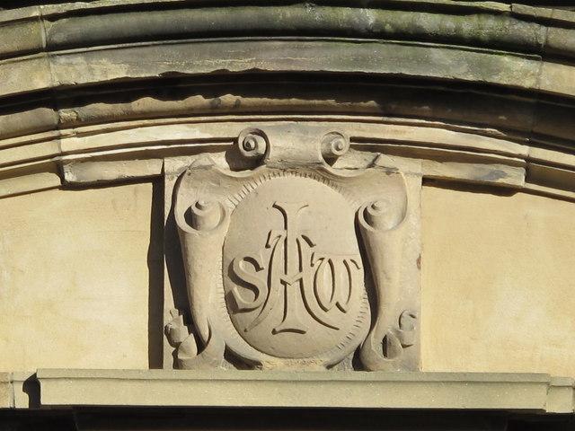 Inscribed stone on the Community Centre, Gilesgate