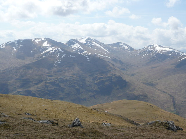 Northern slopes of the Ben Lawers group from Carn Gorm in Glen Lyon