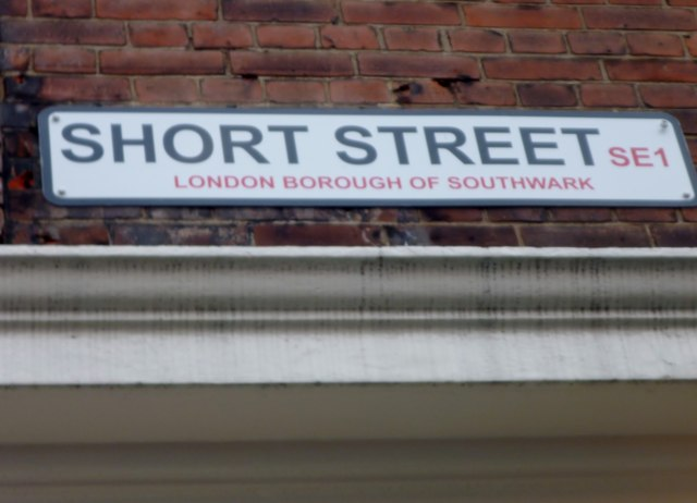 Street sign, Short Street SE1