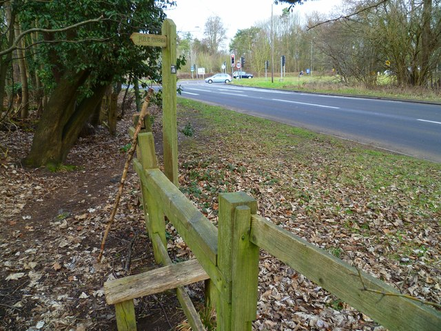 Footpath reaches Shere Road