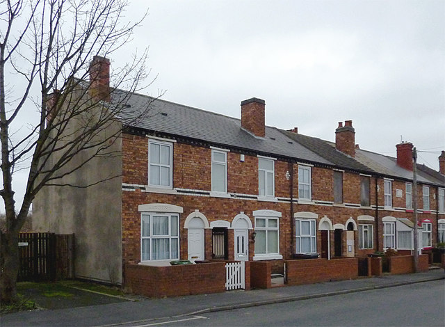 Terraced housing in Bilston, Wolverhampton