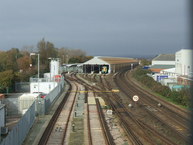 Railway tracks and carriage sidings, Littlehampton