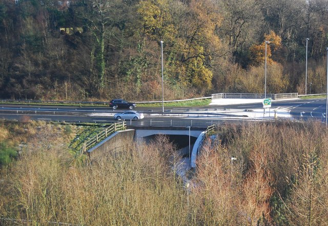 A34 crossing the River Bollin