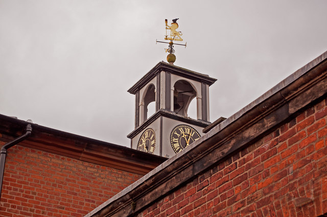 The Clock on the building which houses the restaurant and shop at Tatton Park