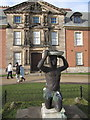 SJ7387 : 'Blackamoor' sundial and formal entrance Dunham Massey Hall by Peter Turner