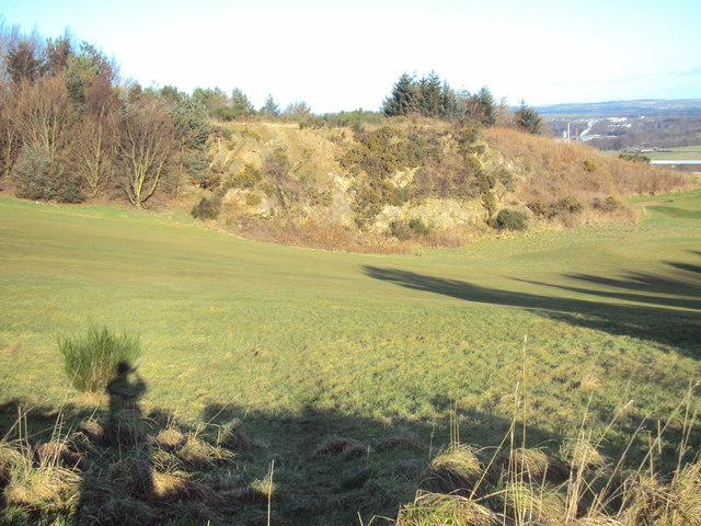 Crag on third hole Auchmill Golf Course