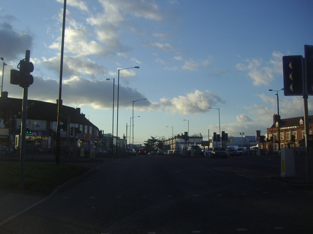 The junction of Tuns Lane and Bath Road, Slough