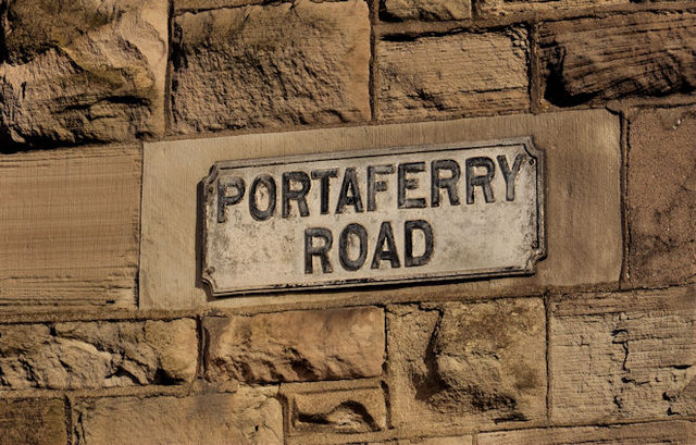 Portaferry Road sign, Newtownards