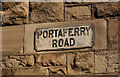 J4973 : Portaferry Road sign, Newtownards by Albert Bridge