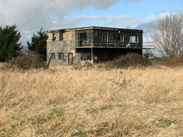 The derelict control tower at Ludham airfield