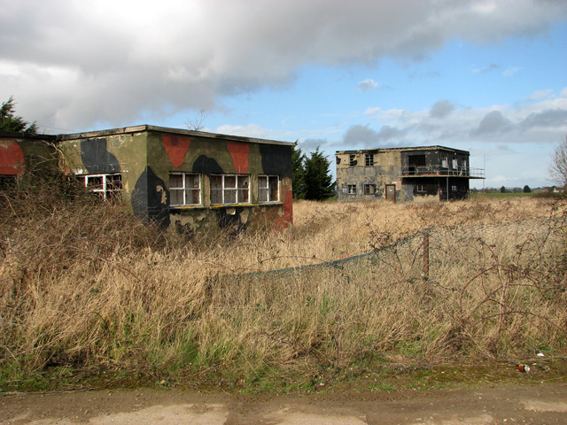 The two derelict control towers at Ludham airfield